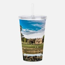 Farm Cottage Ruin at M Acrylic Double-wall Tumbler