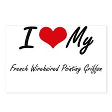 I love my French Wirehair Postcards (Package of 8)