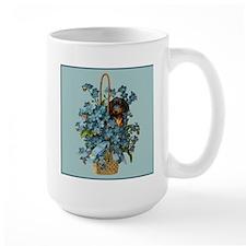 Dachshund in a Flower Basket Mug