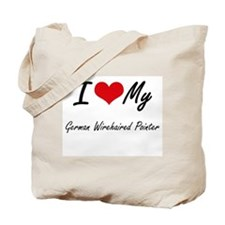 I love my German Wirehaired Pointer Tote Bag