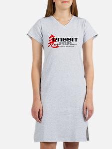 Cute Year of the rabbit Women's Nightshirt