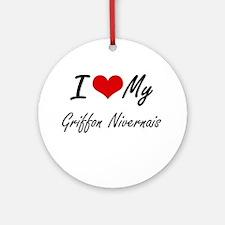 I love my Griffon Nivernais Round Ornament