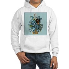 Dachshund in a Flower Basket Hoodie