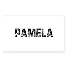 Pamela Rectangle Decal