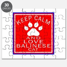 Keep Calm And Balinese Cat Puzzle
