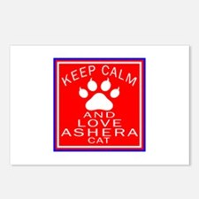 Keep Calm And Ashera Cat Postcards (Package of 8)