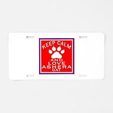 Keep Calm And Ashera Cat Aluminum License Plate