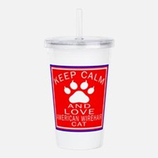Keep Calm And American Acrylic Double-wall Tumbler