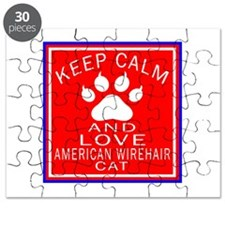 Keep Calm And American Wirehair Cat Puzzle