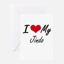 I love my Jindo Greeting Cards
