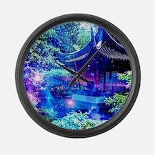 Serenity Garden Large Wall Clock