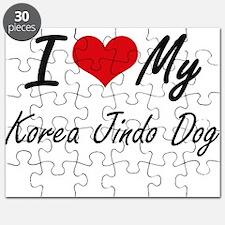 I love my Korea Jindo Dog Puzzle