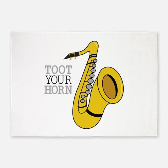 Toot Your Horn 5'x7'Area Rug