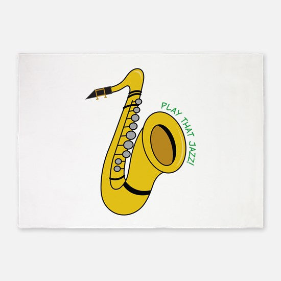 Play That Jazz 5'x7'Area Rug