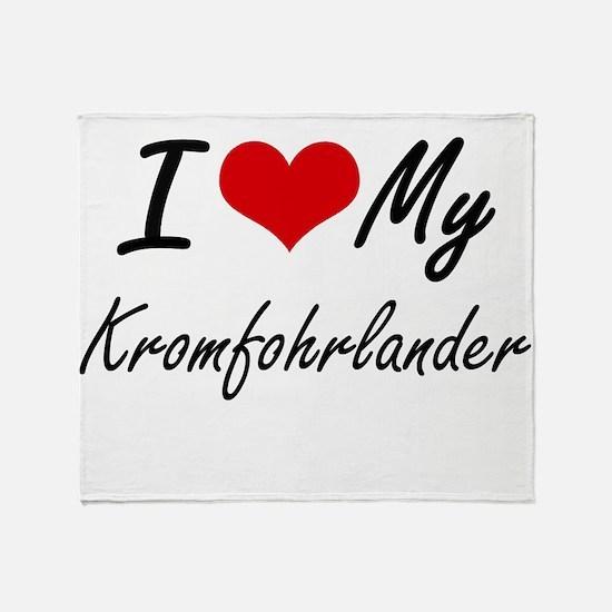I love my Kromfohrlander Throw Blanket