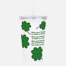 Cute Irish pride Acrylic Double-wall Tumbler