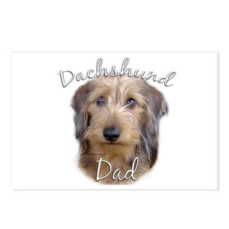 Dachshund Dad2 Postcards (Package of 8)