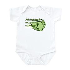 Green Underwear Infant Bodysuit