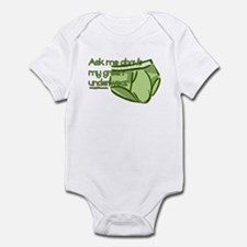 Green Underwear Infant Bodysuit