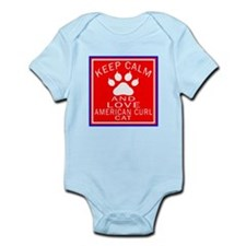 Keep Calm And American Curl Cat Infant Bodysuit