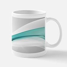 Teal Wave Abstract Mug