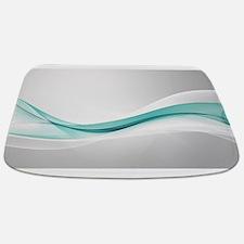 Teal Wave Abstract Bathmat