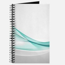 Teal Wave Abstract Journal