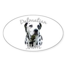 Dalmatian Mom2 Oval Decal