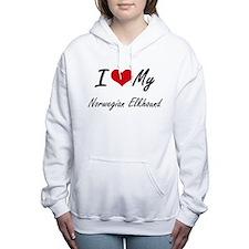 I love my Norwegian Elkh Women's Hooded Sweatshirt