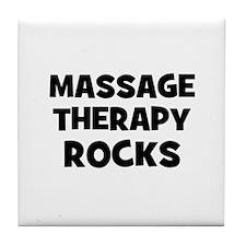 Massage Therapy Rocks Tile Coaster