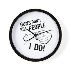 GUNS DON'T KILL Wall Clock