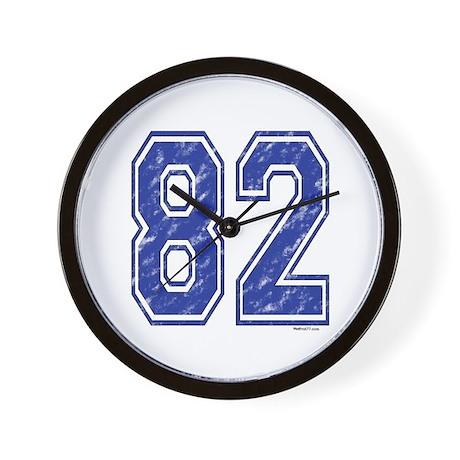 82 Jersey Year Wall Clock