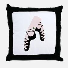 Irish Dance Shoes Throw Pillow