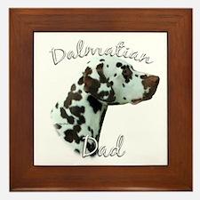 Dalmatian Dad2 Framed Tile
