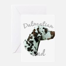 Dalmatian Dad2 Greeting Card
