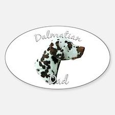 Dalmatian Dad2 Oval Decal