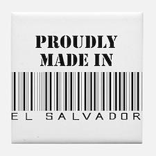 Proudly Made in El Salvador Tile Coaster