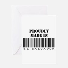 Proudly Made in El Salvador Greeting Card