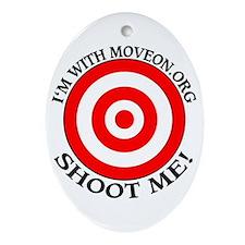 anti - MoveOn.org Oval Ornament