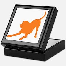 Lab 1C orange Keepsake Box