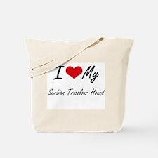 I love my Serbian Tricolour Hound Tote Bag