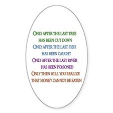 Rainbow Planet Quote Oval Decal