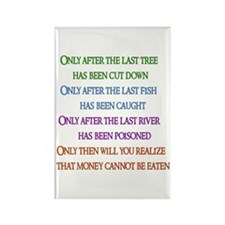 Rainbow Planet Quote Rectangle Magnet