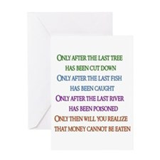 Rainbow Planet Quote Greeting Card