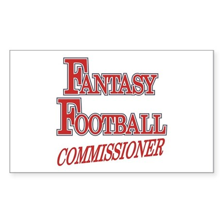 Fantasy Football Commissioner Sticker (Rectangular