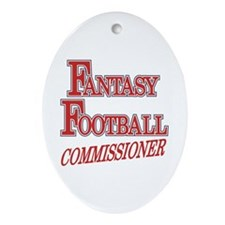 Fantasy Football Commissioner Oval Ornament