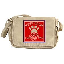 Keep Calm And Turkish Van Cat Messenger Bag