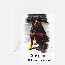 Unique Rottweiler Greeting Card