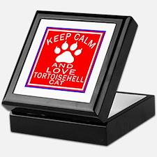 Keep Calm And Tortoisehell Cat Keepsake Box