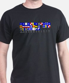 England Expects white text T-Shirt